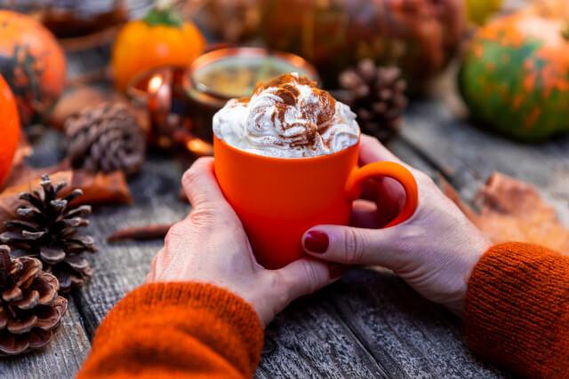 pumpkin latte autumn uk
