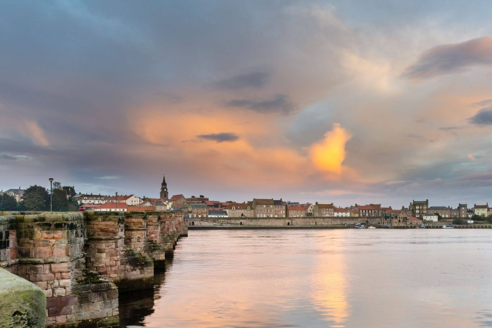Berwick-upon-Tweed Bridge and River Tweed