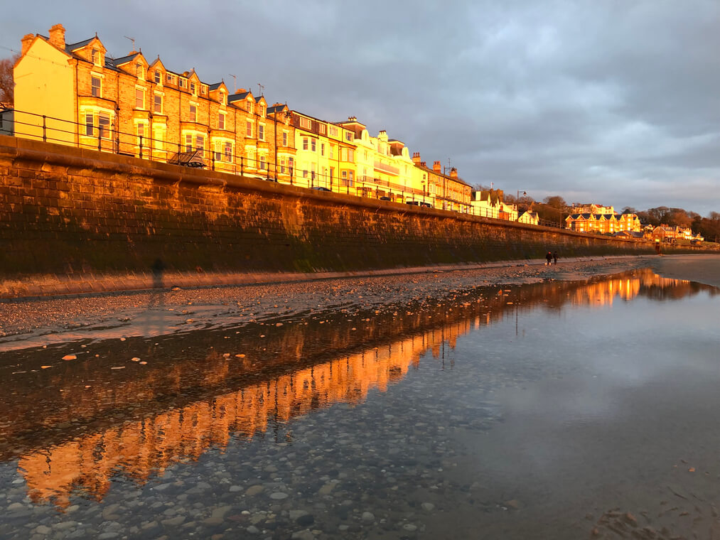 Filey Beach and beachfront homes