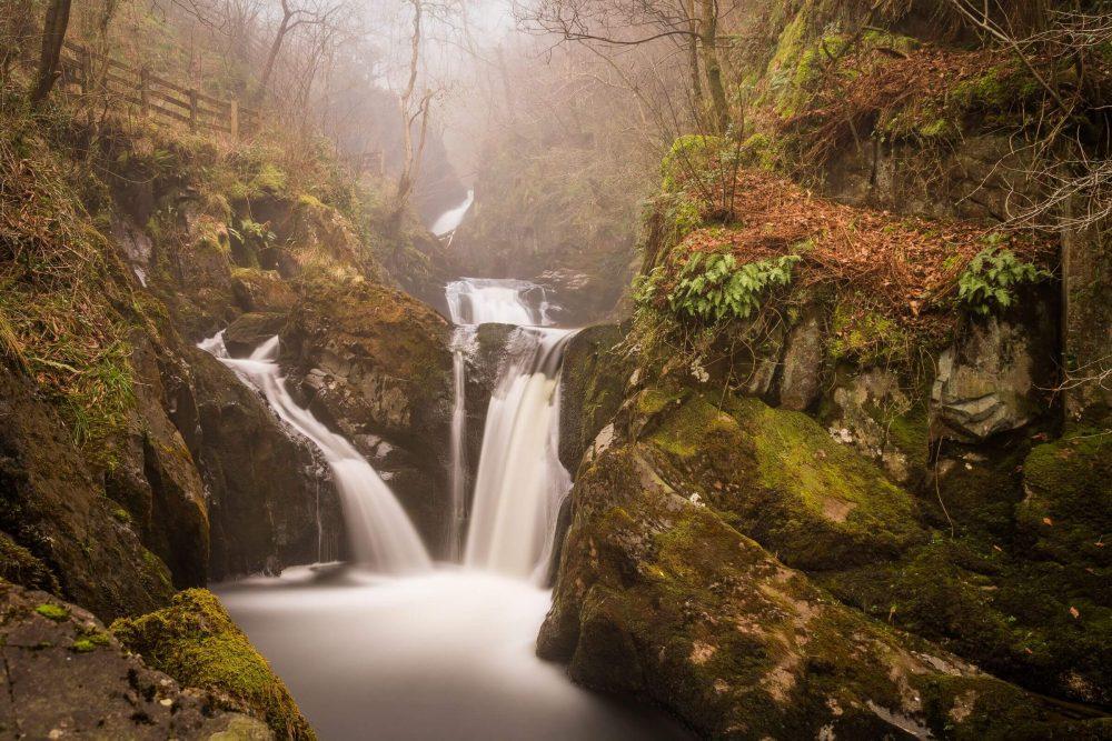 Ingleton falls waterfall