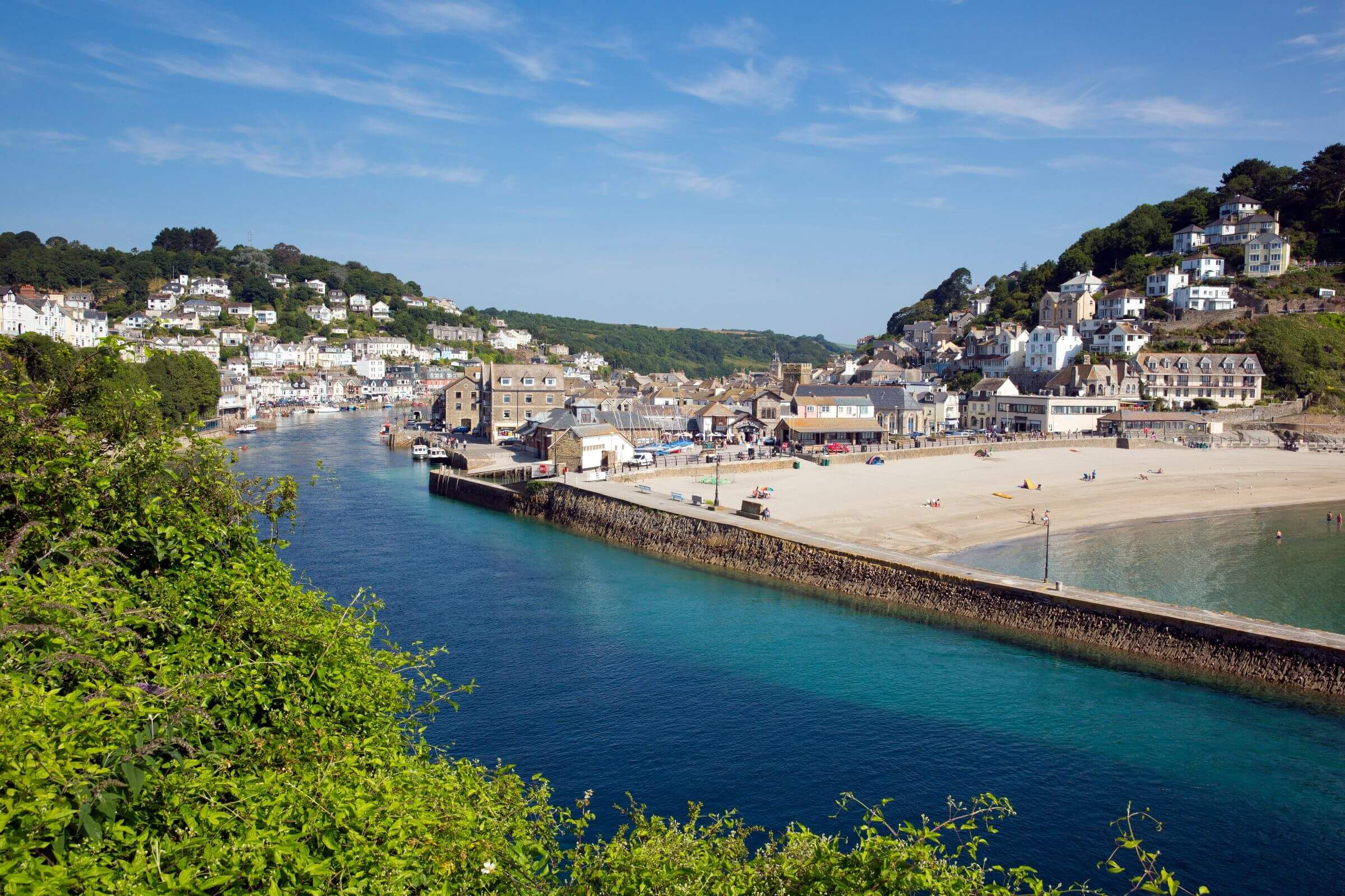 east looe beach and harbour cornwall