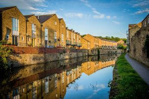 Canal in Skipton, Yorkshire Dales