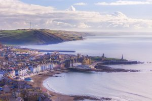 View over Aberystwyth North Wales