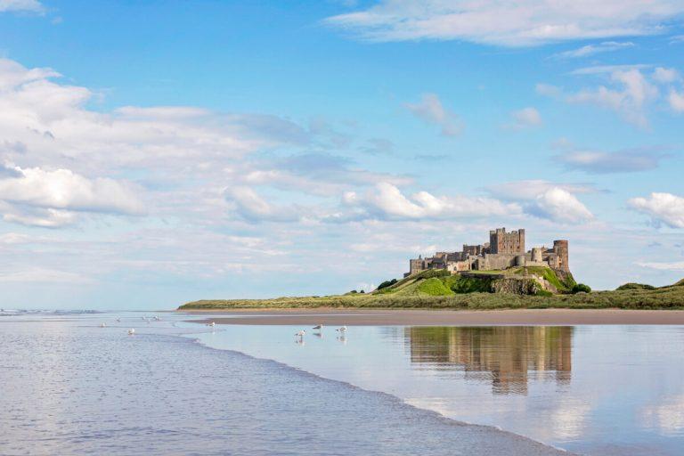 bamburgh castle beach northumberland