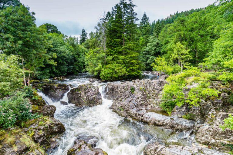 betws y coed river llugwy snowdonia