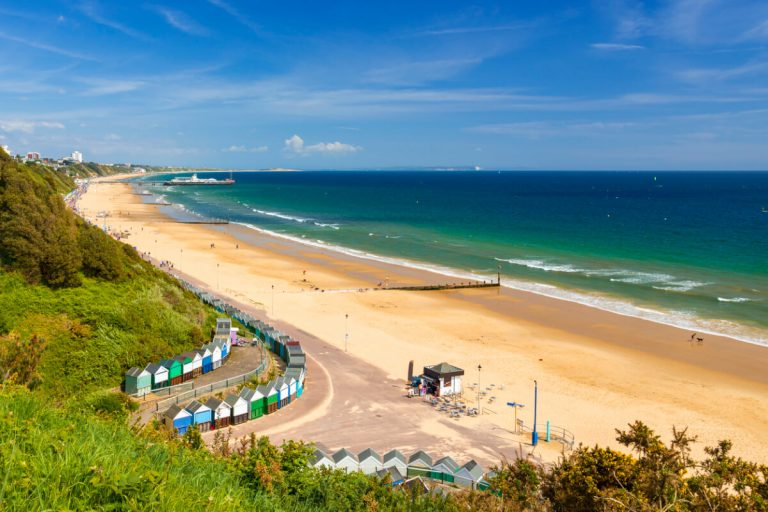 bournemouth beach in dorset