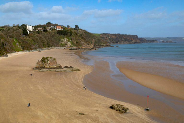carmarthen bay tenby beach wales