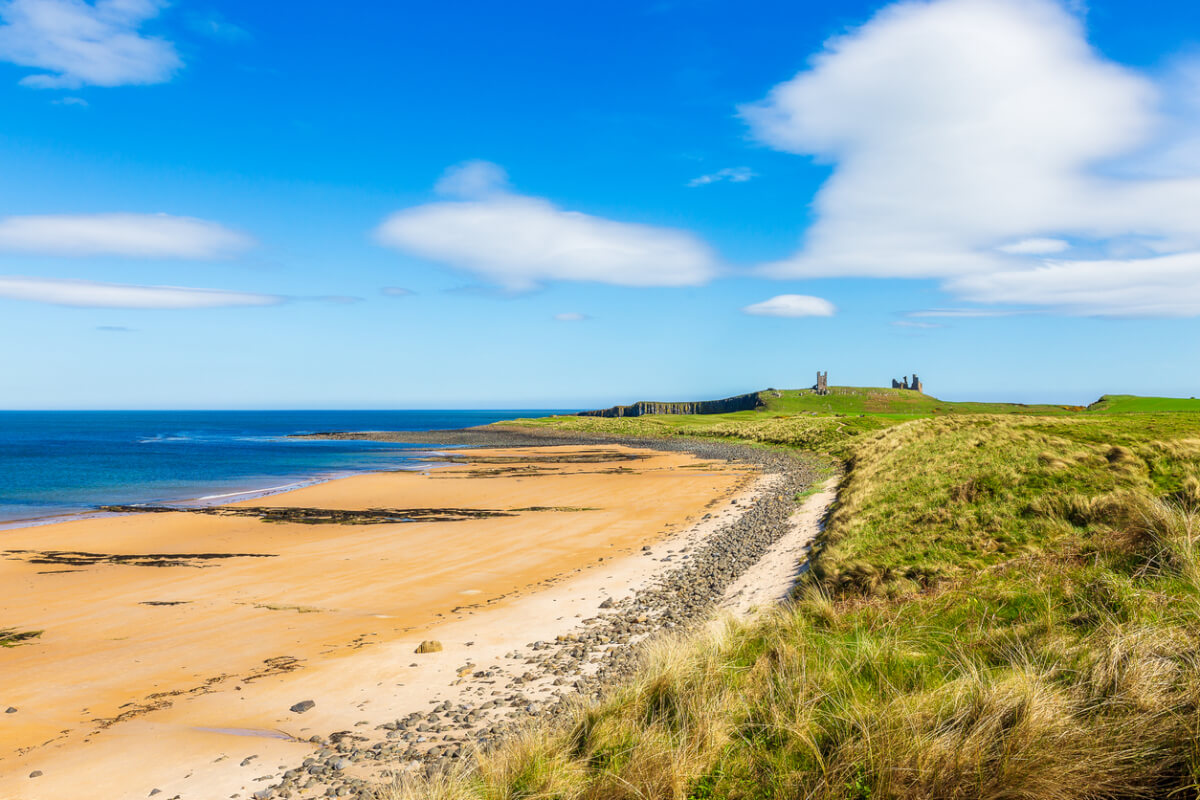 dunstanburgh castle beach northumberland