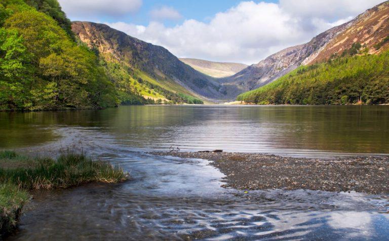 glendalough lake county wicklow ireland