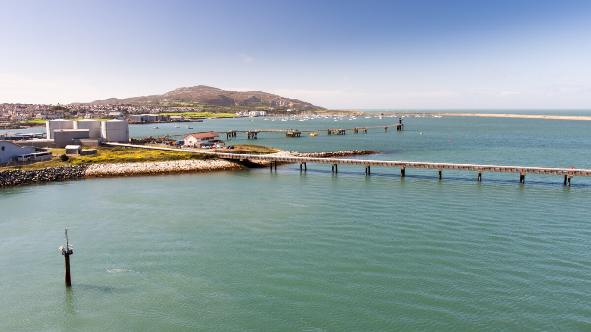 holyhead port and mountain