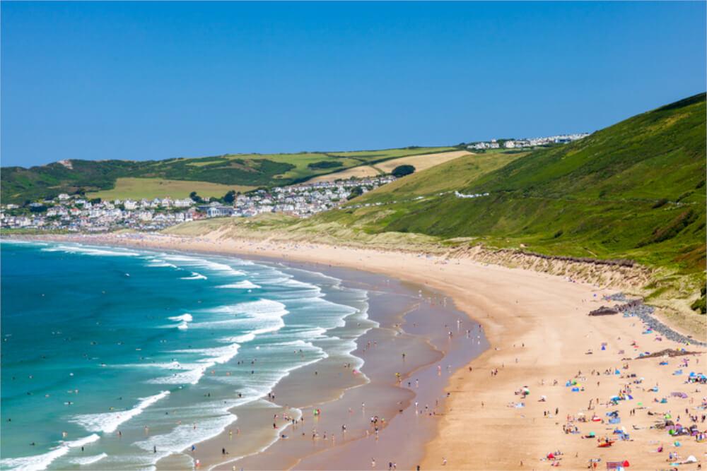 putsborough sands devon beach