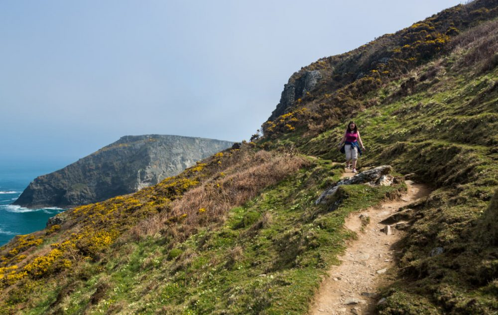 south west coast path at tintagel cornwall