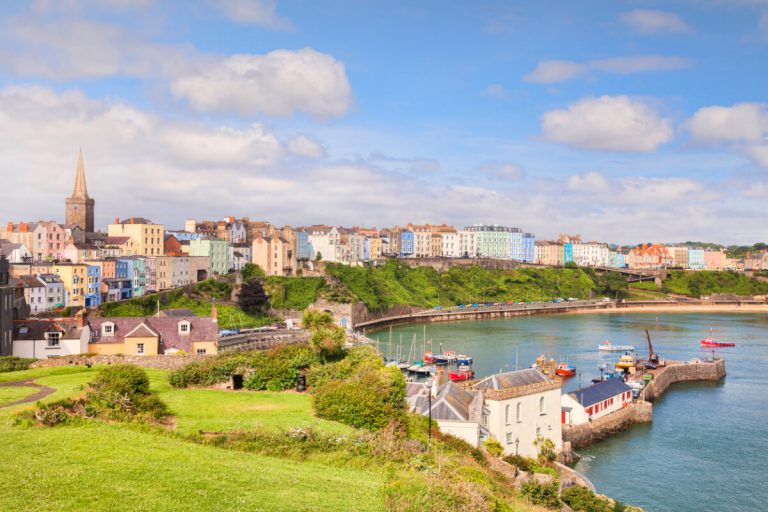 tenby beach harbour wales