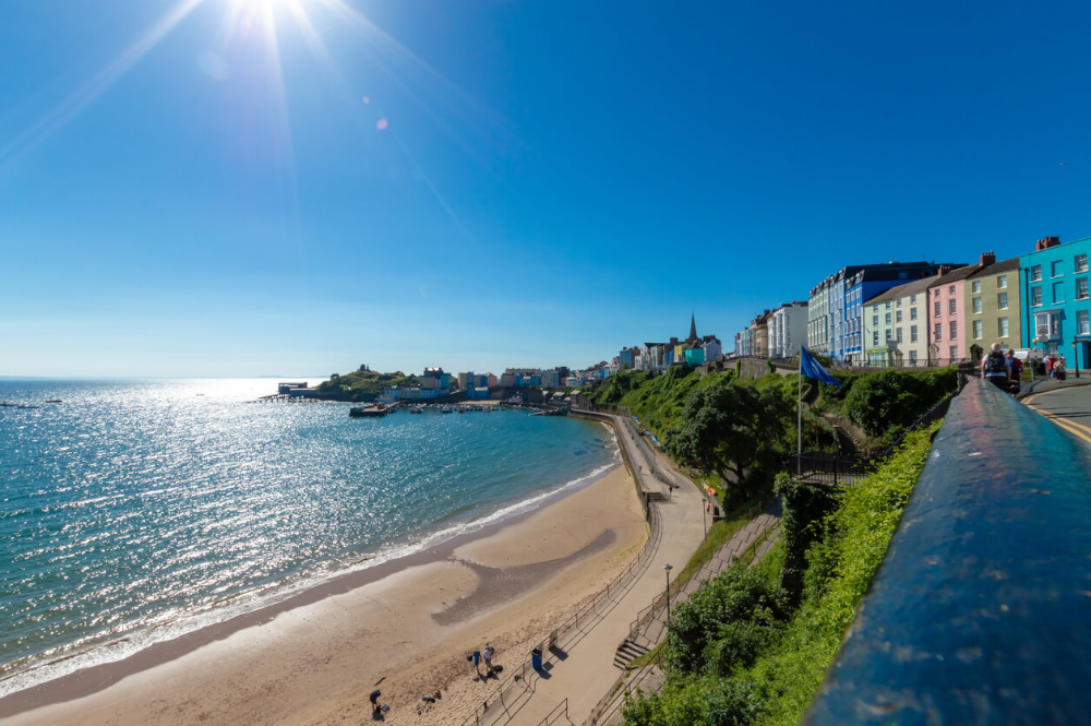 north beach in tenby