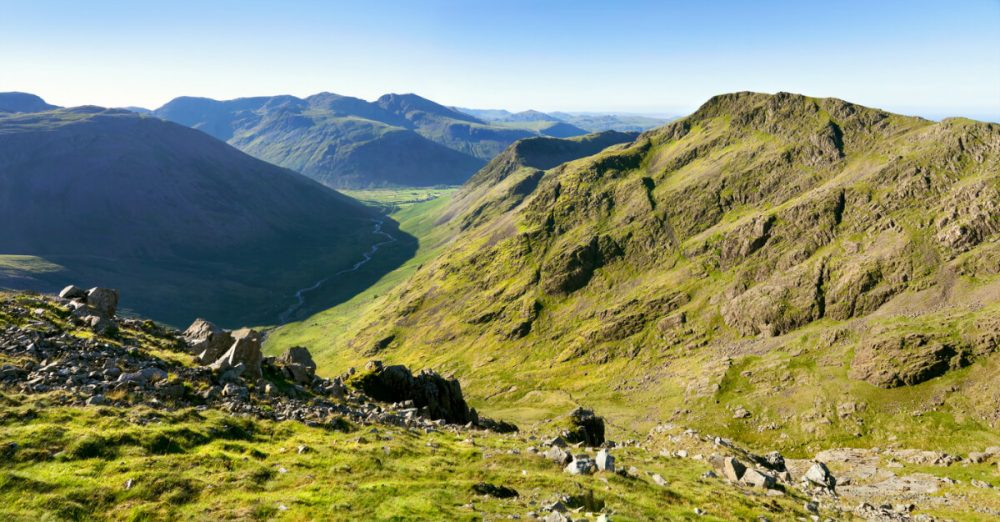 views of scafell pike lake district