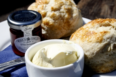 A delicious cream tea in Cornwall