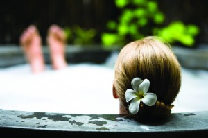 Soothe aching muscles in a luxurious hot tub