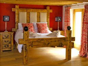 A beautiful bedroom in a holiday cottage
