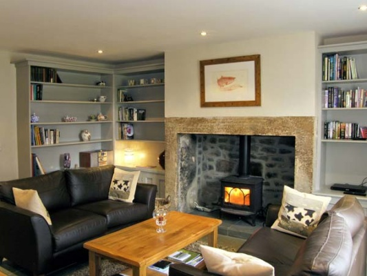 A wonderful, cosy sitting room at Lime Tree Cottage in Northumberland