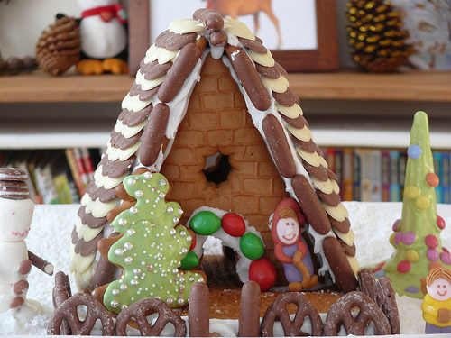 Here We Are Together's gingerbread house