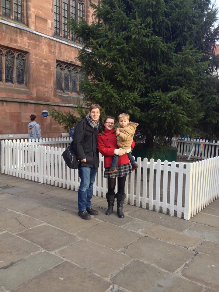 Lisa and James celebrating Christmas 2013 in Chester