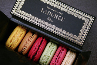 A box of Laduree Macroons