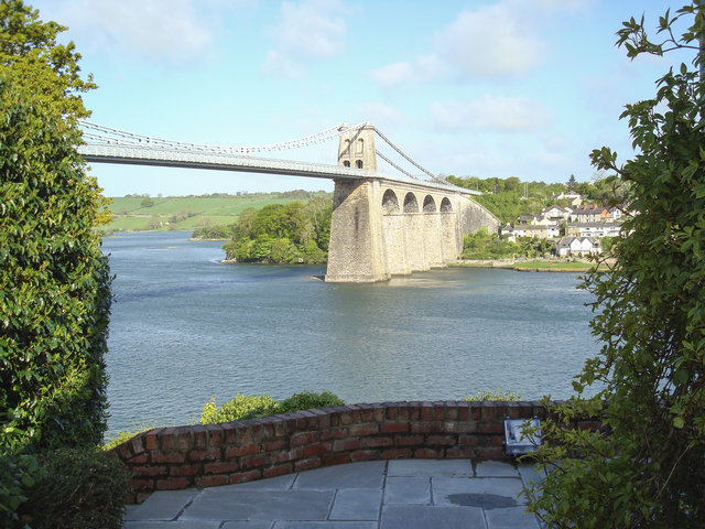 View of the Menai Bridge from Telford House Ref 14628.