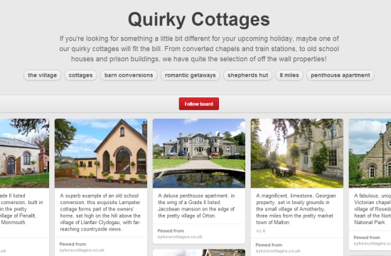 Quirky Pinterest Board Sykes Cottages