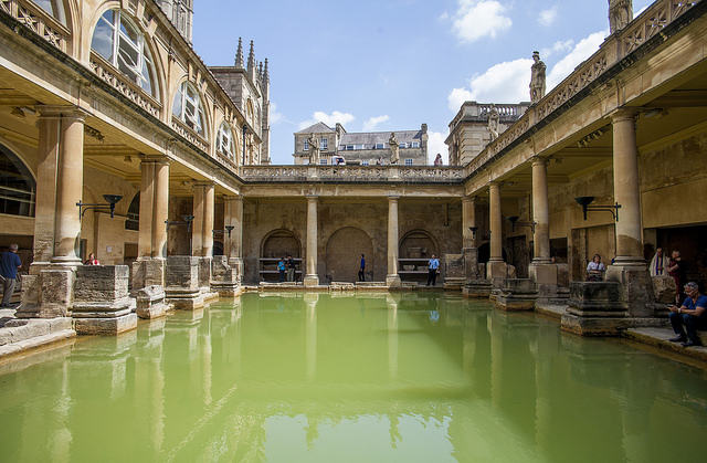 Image of The Roman Baths via Flickr.