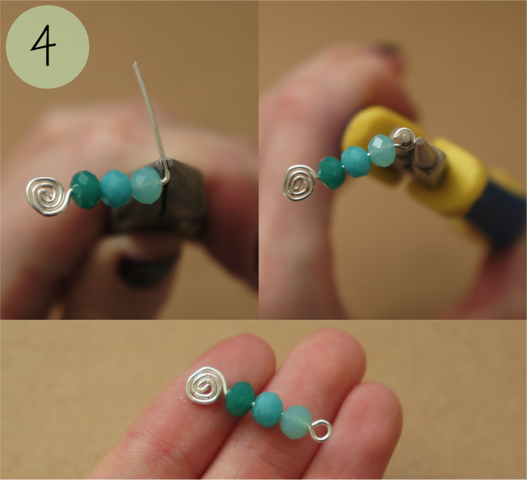 Handmade earring tutorial step 4