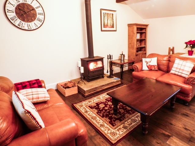 Holiday cottage with log fire