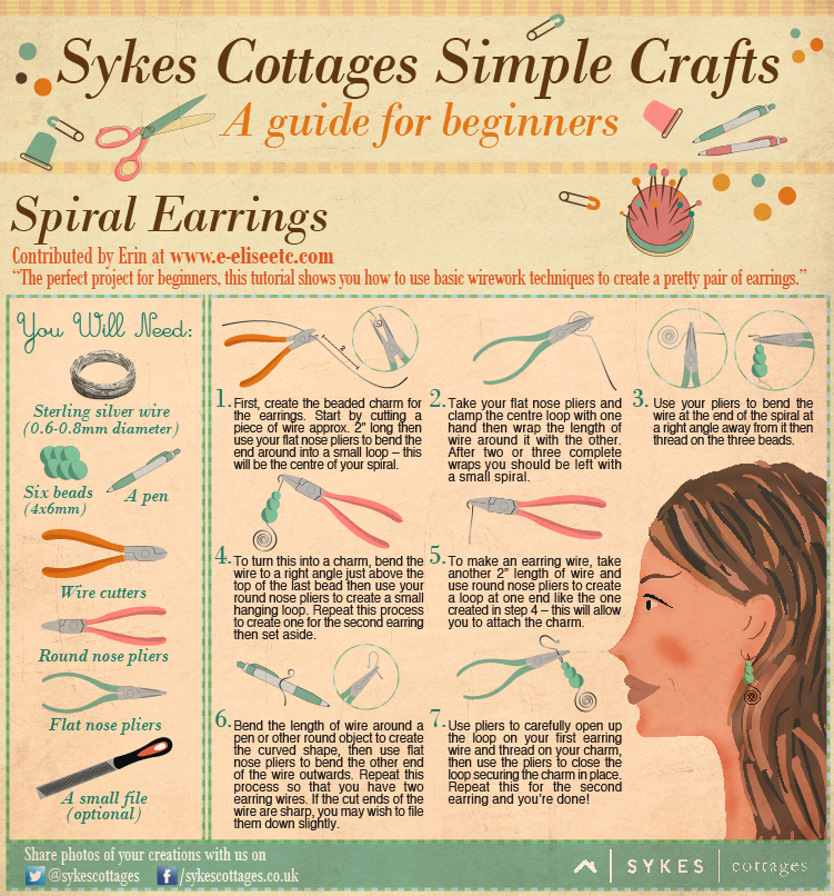 Craft Guide Earrings Simple Tutorial