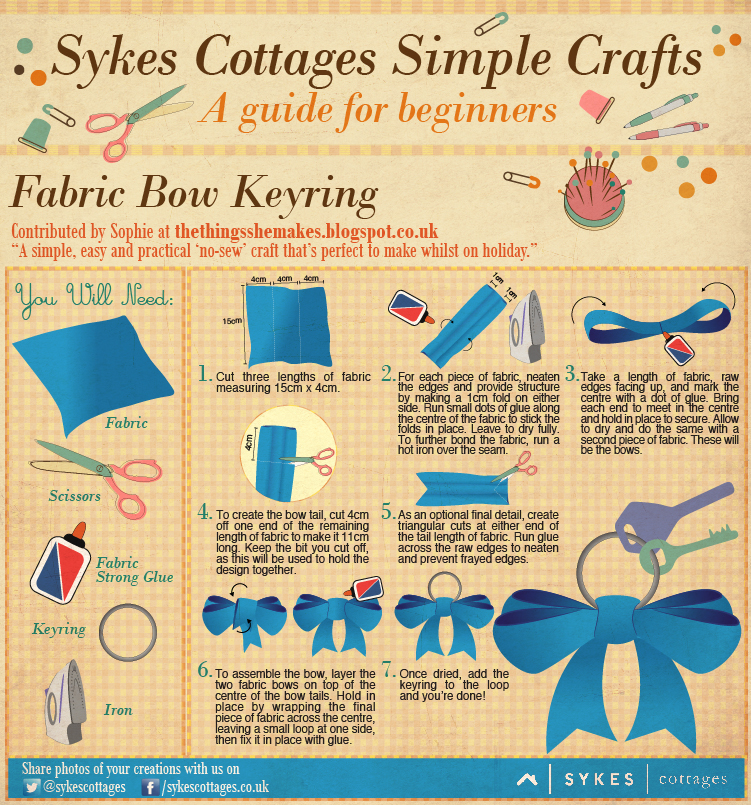 Sykes Craft Guide Fabric Bow Keyring