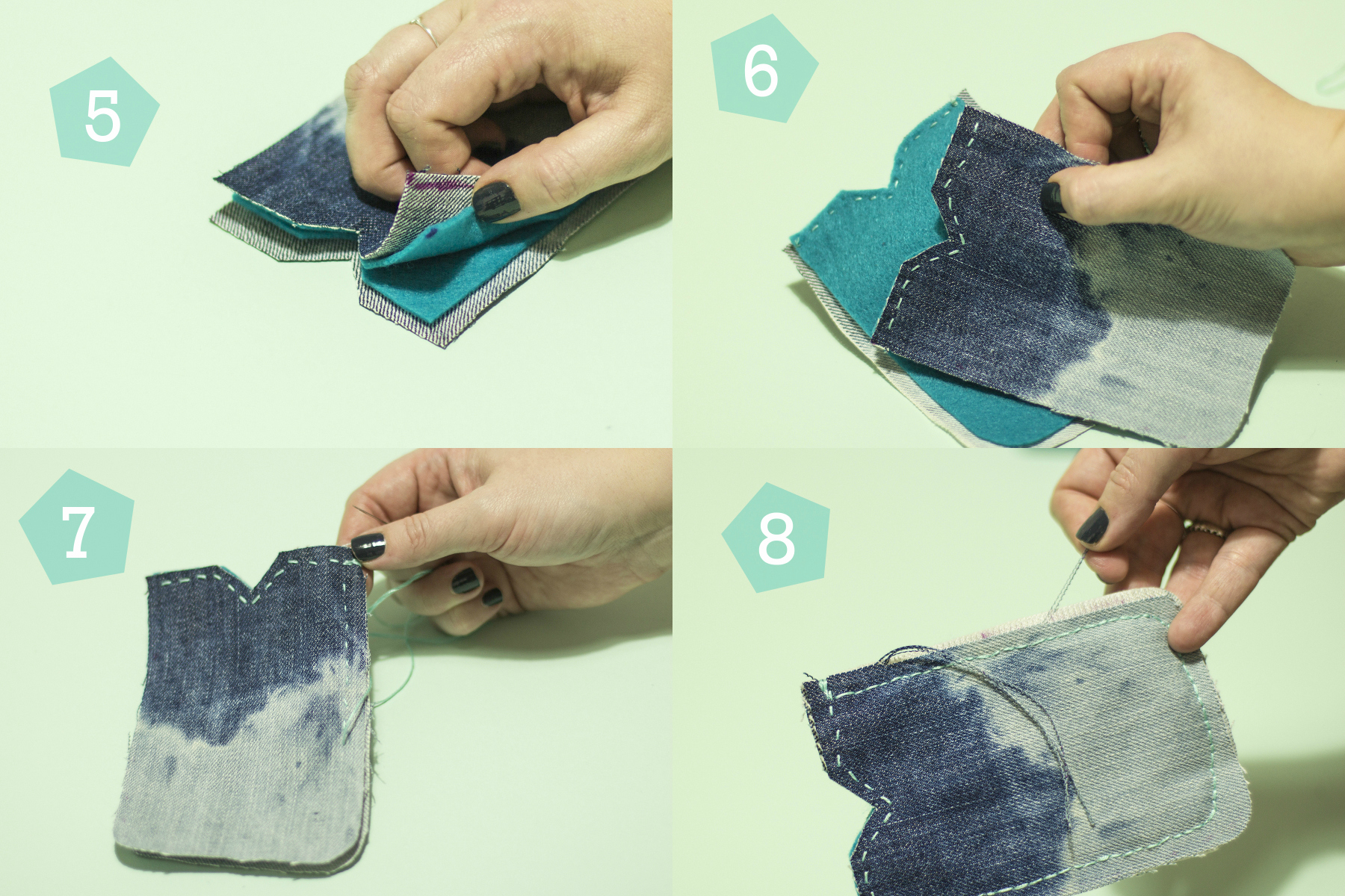 Simple Craft Tutorial: Upcycled Phone Case Steps 5-2-8