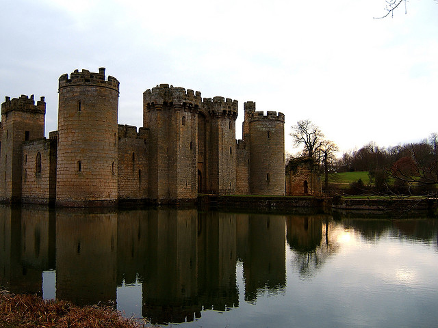 Placid Bodiam Castle | by essica Spengler | CC BY