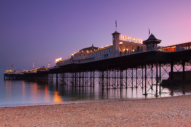 Brighton Pier at dusk, UK | by Eric Hossinger | CC 2.0