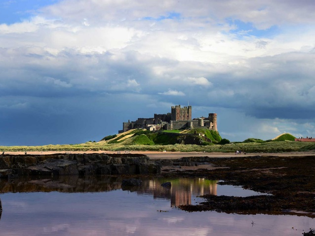 Bamburgh Castle Northumberland coast