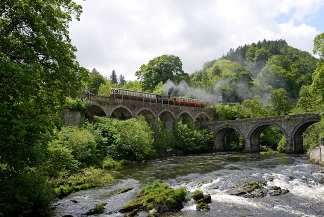 Steam train in Wales