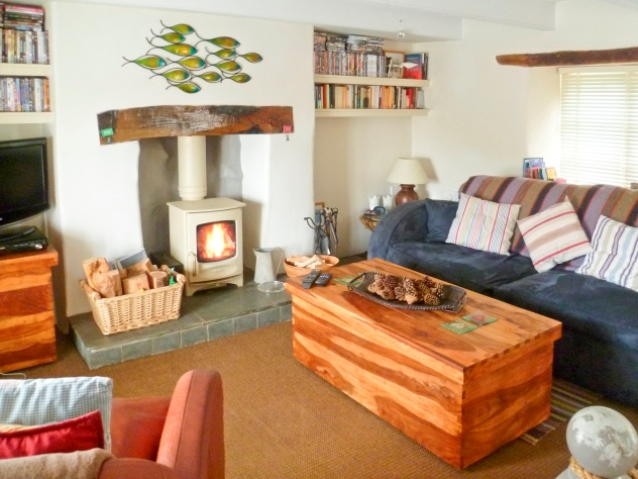Holiday cottage in Cornwall with open fire