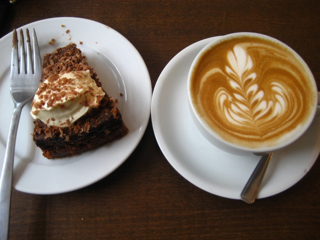 Cake and coffee in Liverpool