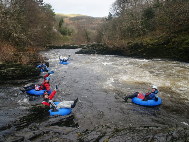 White water rafting in Wales
