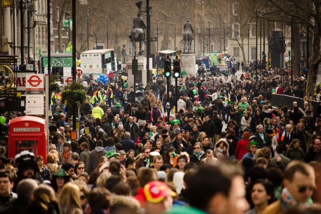 St Patrick's Day, London