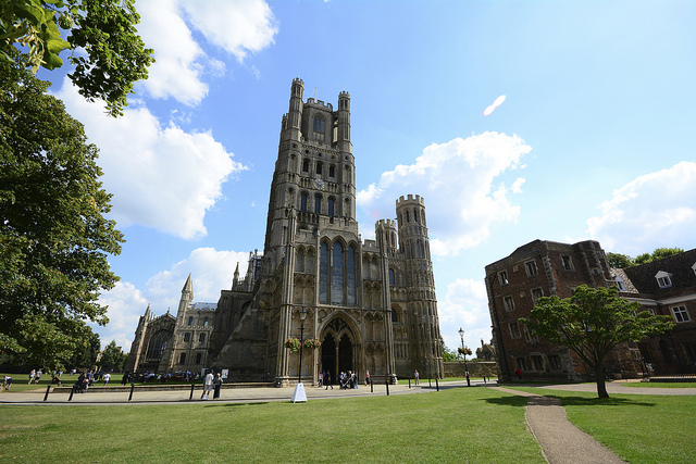 Ely cathedral in Ely, Cambridgeshire