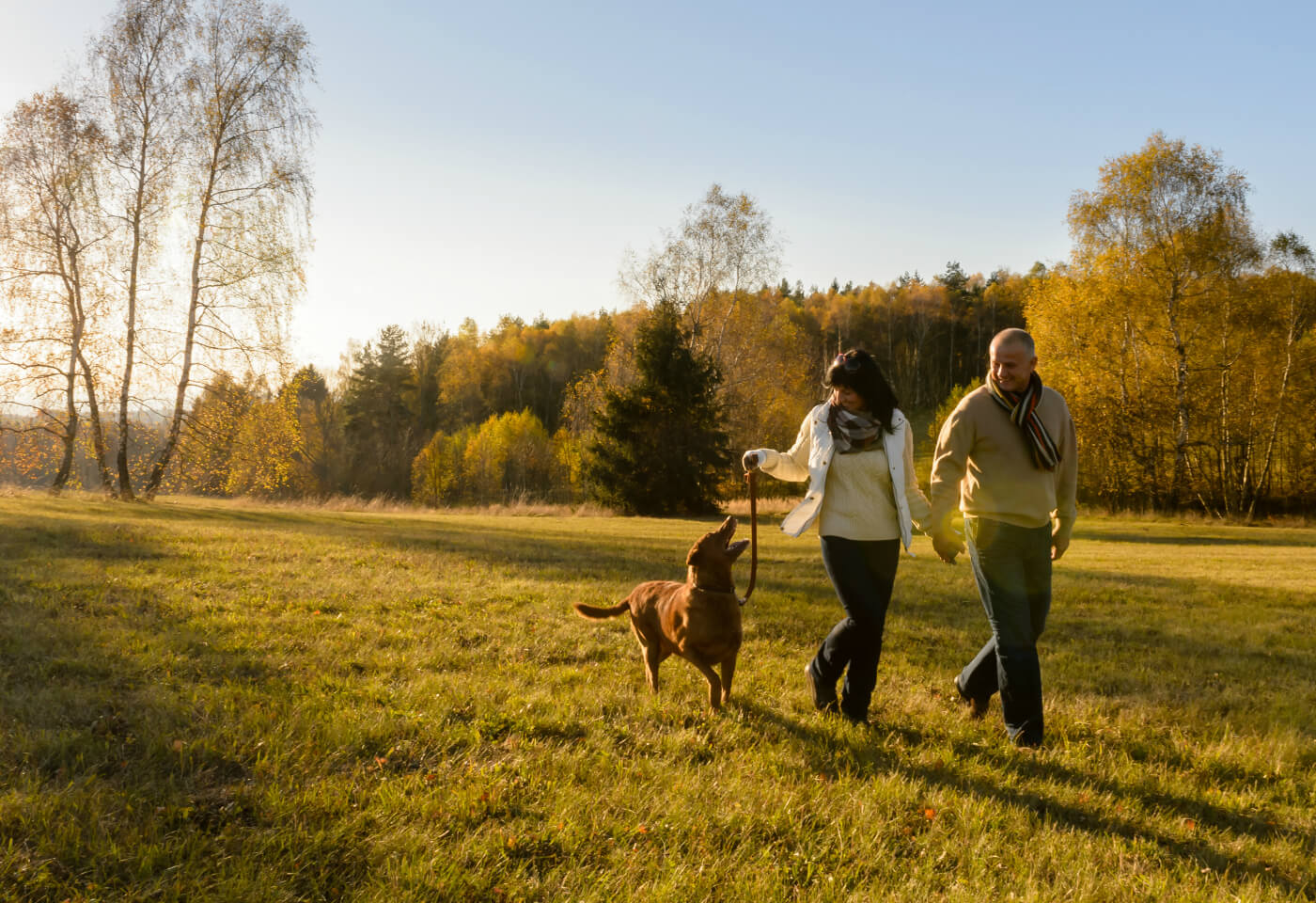 Mature Couple and dog-A (1)