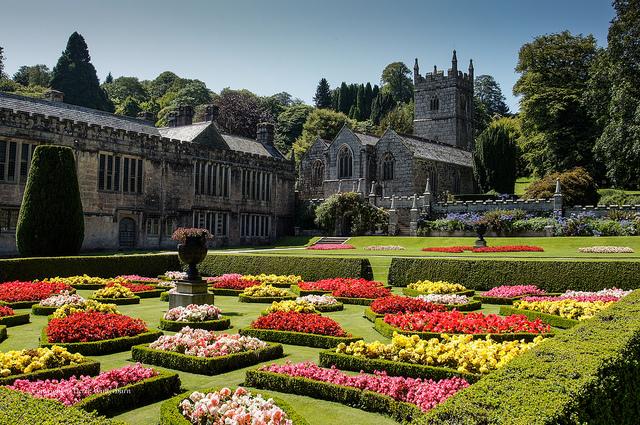 Gardens and Lanhydrock Church by Derek Winterburn is licensed under CC BY-ND 2.0