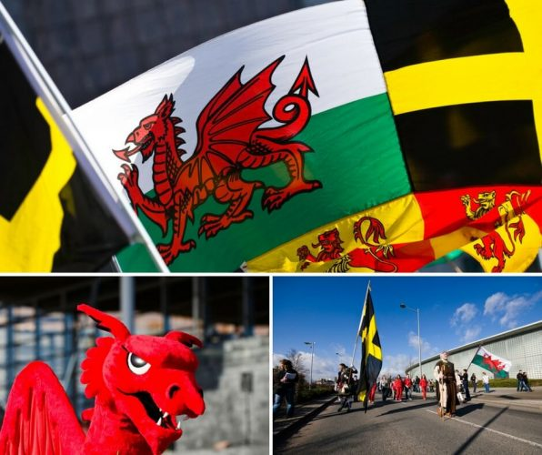 St David's Day Flags