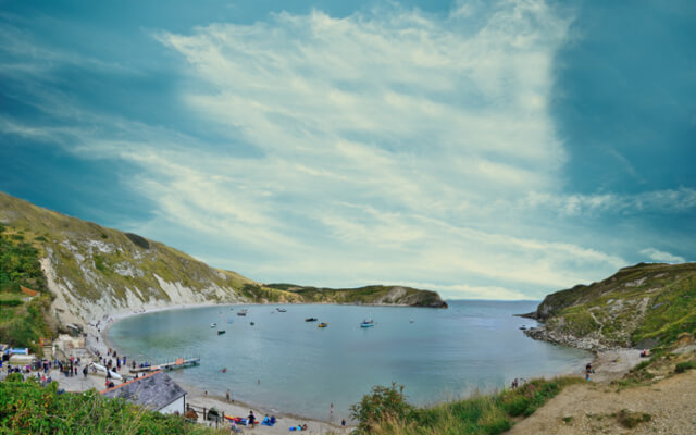 Dog friendly walks in dorset - Lulworth Cove and The Fossil Forest walk