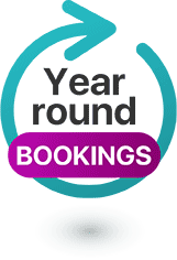 Year Round Bookings!